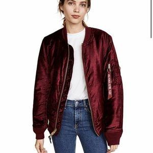 ALPHA INDUSTRIES MA-1 Reversible Velvet Jacket